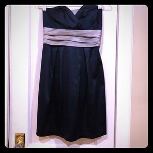 Trixxi Strapless Dress with Bow in Back